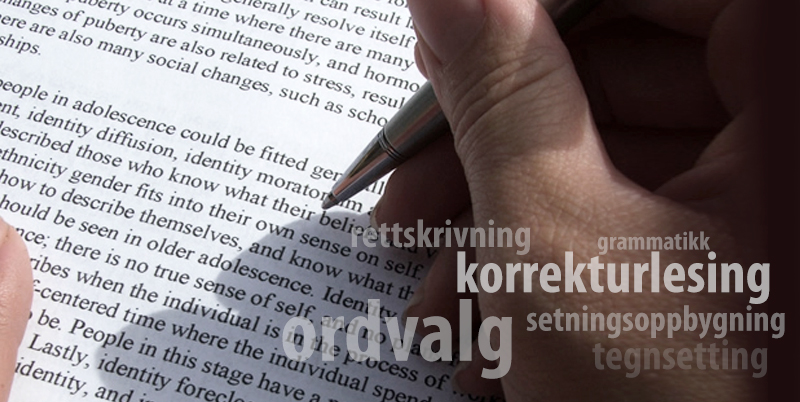 korrektur, korrekturlesing, korrekturlesning, korrekturleser