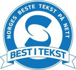 Best i tekst-logo