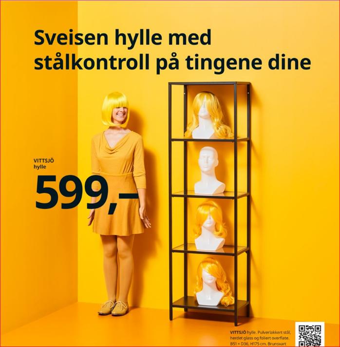 Versjonert tekst en oversetter kan være stolt av. Fra IKEA-katalogen.